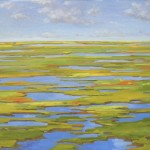 "bloody marsh, st simon island 30"" x 48"" oil on canvas"